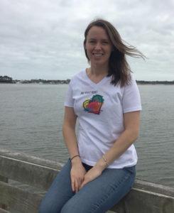 Girl wearing Truest Heart T-shirt